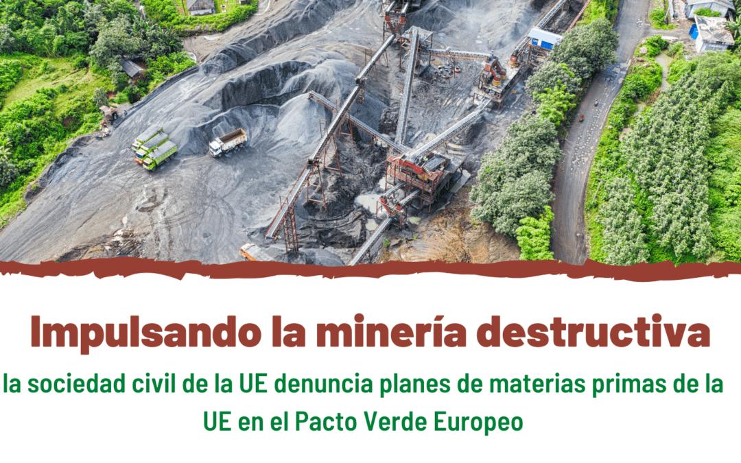 """Por su fuerte componente extractivo, +180 organizaciones rechazan el """"Green Deal"""" de la UE"""
